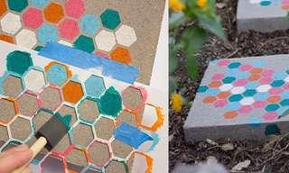 DIY: Baldosas Decorativas Para El Jardín