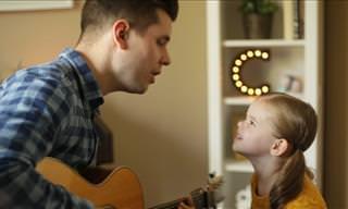 ¡Lo Más Adorable Que Verás Hoy! Padre e Hija Cantan Juntos