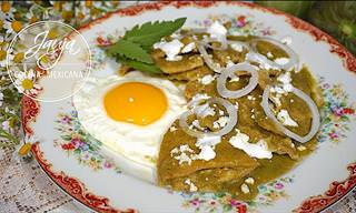 Receta: Exquisitos Chilaquiles Verdes