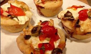 Prepara Fáciles y Rápidas Pizzas Cupcakes